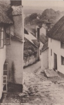 Minehead, thatched cottages from an early 19th century postcard. © Adèle Emm