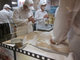 Dim sum chefs at work, Taipei