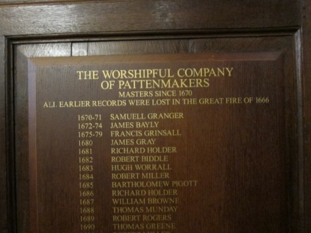 St Margaret Pattens, Worshipful Masters' names (640x480)