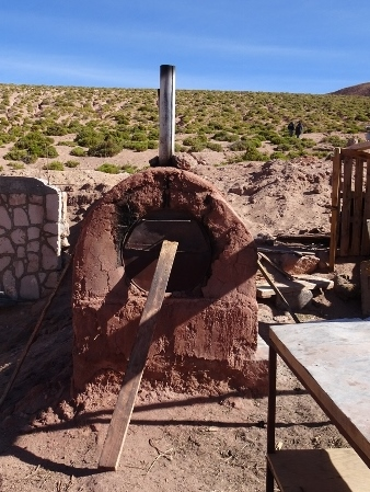 open air earth oven, Machuca